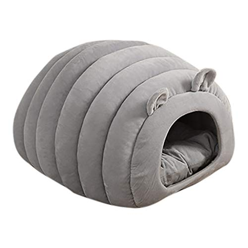 Juesi Cat Bed Cave House, Best for Indoor Cats Houses Heated Kitten Warm Pet Self Warming Caves Igloo Igloo Bed Pet Tent House, GY