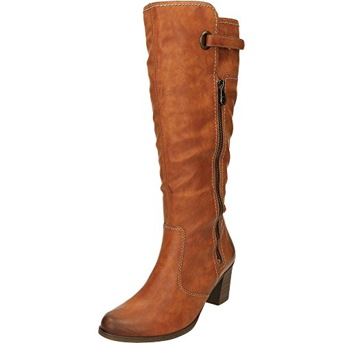 Velvet Lined Brown London Boots Ladies Brown Riding Y8980 24 Zip Base ISRgn