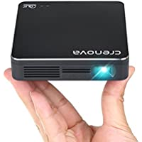 DLP Projector, Crenova XPE700 Pico Pocket Video Projector Mini Projector WiFi Connection with iPhone Smartphone iPad tablet for Home Outdoor Backyard Cinema Theather