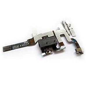 Flex Conector Jack Audio iPhone 4S Negro