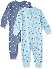 Hanes Unisex-Baby Ultimate Baby Zippin 2 Pack Sleep and Play Suits Layette Set