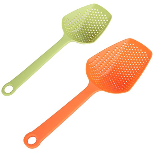 Scoop Joseph Joseph (Home-X - Food Colander & Strainer Spoon (Set of 2), Unique Design Allows You Scoop & Strain Right Out of the Pot or Pan, Perfect for Pasta, Vegetables, Fried Foods, More)