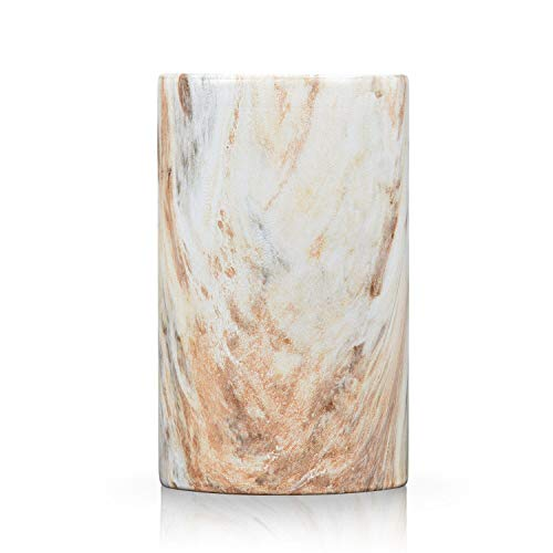 (Fimary Ceramic Bathroom Tumbler Cup Holder - Marble Makeupbrush Holder Toothbrush Holder with Unique Marble, Cute Tumbler with Unique Marble Stripe)