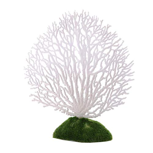Clearance Sale!DEESEE(TM)Aquarium Decoration Artificial Coral for fish Tank Resin Ornaments Fake Plant (White) (Fake Artificial Aquarium Fish Tank By Bos)