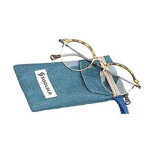 SOOLALA Vintage Quality Round Half Frame Reading Glass Prescription Eye Glass Frame, Leopard, x2.5