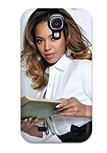 Tpu Case Cover For Galaxy S4 Strong Protect Case - Beyonce Reading Female Green Book White Blouse People Women Design
