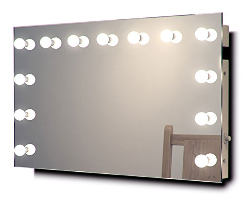Diamond X Hollywood Audio Vanity Mirror with Dimmable CW LED - Vanity Unit 1000mm Bathroom Mirrors Lights