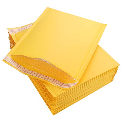 """Acrux7 Bubble Mailers 10.5 x 13"""", Padded Mailing Envelopes 25 Pack, Kraft Bubble Mailers Self Seal Padded Envelopes with Peel-N-Seal,Heavy Duty Tear and Lightweight"""