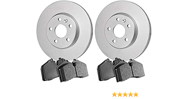 2016 For Toyota Corolla Front Cross Drilled Slotted and Anti Rust Coated Disc Brake Rotors and Ceramic Brake Pads Stirling