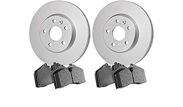 Front Coated Disc Brake Rotors and Ceramic Brake Pads For 2016 Subaru Legacy 2.5i 2.5 Liter H4 Two Years Warranty Stirling - 31414