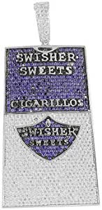 HIP HOP GOLD PT ICED SWISHER SWEETS CIGARILLOS BLING FASHION CHARM PENDANT