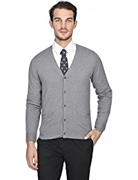 "<span class=""a-offscreen"">[Sponsored]</span>Men's 100% Pure Cashmere Button Front Long Sleeve Cardigan Sweater"