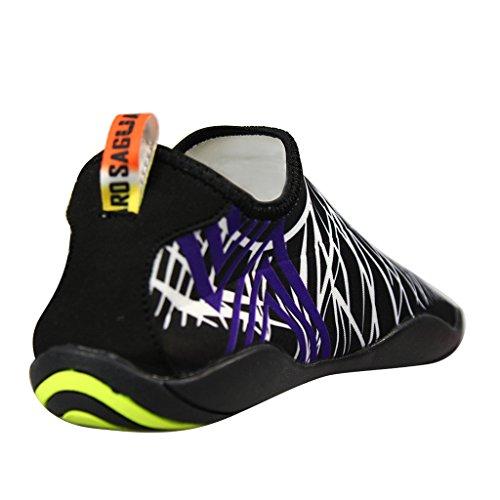 SAGUARO® Unisex zapatos de agua de natación Calzado de Agua Calzado de Surf Calzado de Playa para Los Reyes Magos Blanco