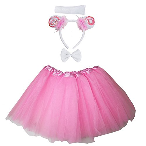 Kirei Sui Kids Costume Tutu Set Pink Sheep]()