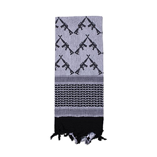 Rothco Crossed Rifles Shemagh Tactical Scarf, White