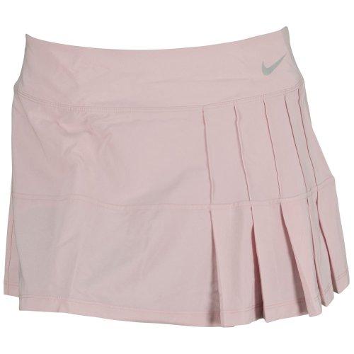 Pleated Skirt Nike Tennis - Nike Women's Pintuck Pleated Woven Skirt Pink Glaze (XLarge)