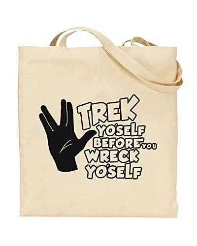 Yo'self Bag Before TeeDemon Trek Star Trek Shopping Novelty Fan by TOTE Yo'self Wreck You Handbag Gift UfqHIwz