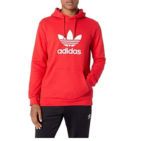 adidas Originals Men's Trefoil Hoodie Collegiate Red Large