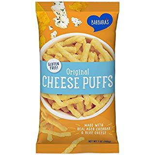 Barbara's Baked Original Cheese Puffs, Gluten Free, Real Aged Cheese, 7 Oz Bag