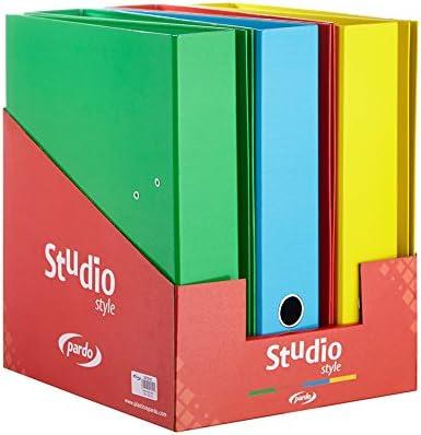 Expositor con 6 archivadores cartón forrados con diseño studio ...
