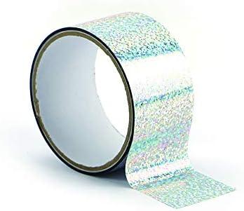 Plata Graine Cr/éative Masking Tape XL Hologr/áfico 8 m x 4,8 cm
