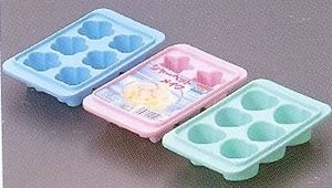 Price comparison product image JapanBargain Set of 3, Ice Cube Tray Sakura Star Heart Shape #5207