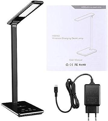 Lámpara De Mesa Led Lámpara De Escritorio De Atenuación Qi ...