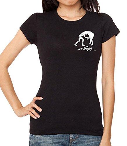 Junior's MMA Wrestling Emblem Black T-Shirt X-Large Black by Interstate Apparel Inc