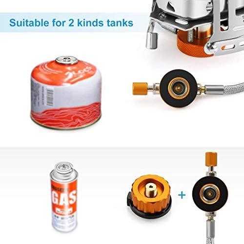 Awroutdoor Estufa de Camping, 3500W Mini Estufa Plegable de Acero con Encendido piezoeléctrico, Mini Estufa de Gas Ultraligera y Duradera/ ...