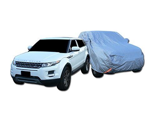 R&L Racing Universal Fit for Mid-Size SUV Car (Usually Length of Car Not Exceeding More Than 4750mm). 4 Layer Universal Waterproof CAR Cover+Mirror Pocket