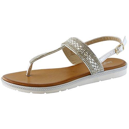 01 Silver Women Sandal - 4