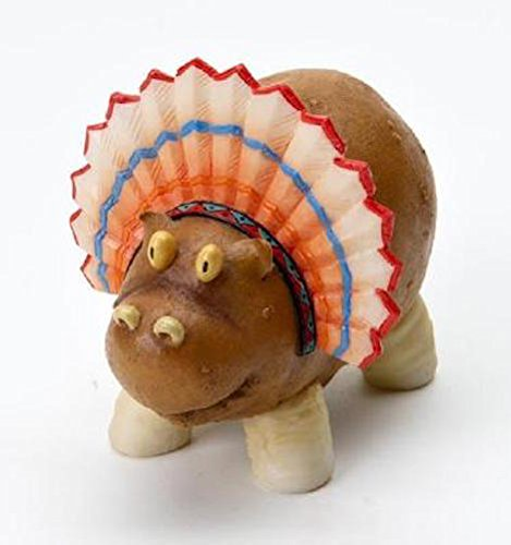 Homegrown Enesco Fruit (Enesco Home Grown 4017531 Thanksgiving Potato Hippo Indian Collectible Figurine, Multicolor, 3.4 inches)