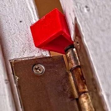Pack of 4, Red LINE2design Firefighter Door Stopper Safety Combo Wedge Pack Door Stop Loose Sprinkler Stops Safety Wedges Doors Opener