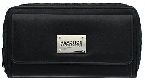 Kenneth Cole Reaction Womens Urban Organizer Wallet (Black Buff)