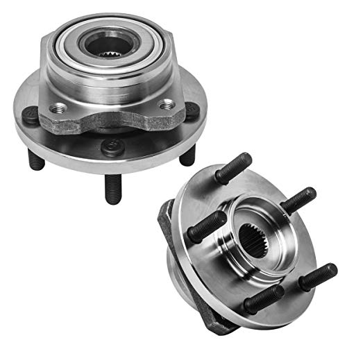 Plymouth Voyager Front Hub - Front Wheel Hub and Bearing Assembly Left or Right Compatible Chrysler Prowler Grand Voyager Town and Country Dodge Caravan Plymouth Voyager AUQDD 513123 x2 (Pair) [ 5 Lug ]
