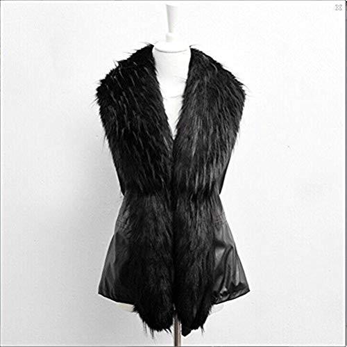 Fille Fourrure Art Sleeveless El Fashion Femme Hiver Automne Fourrure De Gilet ZcWvqzC80n