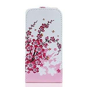 JJE Plum Flower Pattern PU Leather Full Body Case for Samsung Galaxy S4 Mini I9190