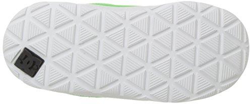 DC Heathrow Se - Zapatillas para niño negro Black/Glow Green/Grey/White