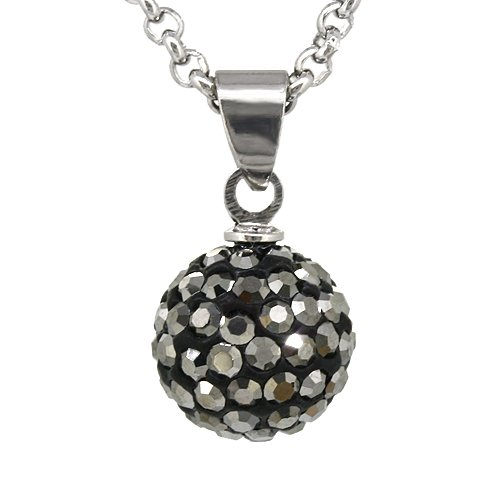 JewelrieShop 10mm Rhinestone Czech Crystal Disco Ball Fireball Bling Bling (Fireball Pendant)