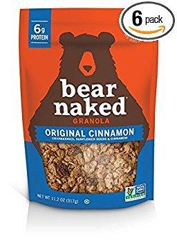 Bear Naked Original Cinnamon Granola 11.2 oz (Pack of 6)
