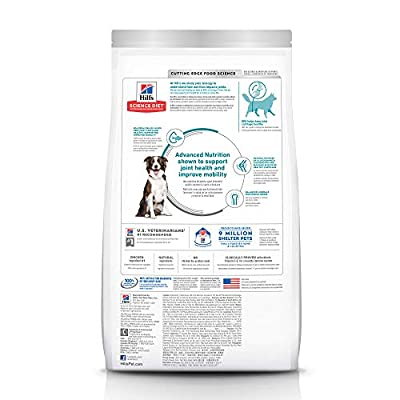 Hill's Science Diet Dry Dog Food, Adult, Large Breed, Healthy Mobility, Chicken Meal, Brown Rice & Barley Recipe for Joint Health, 30 LB Bag