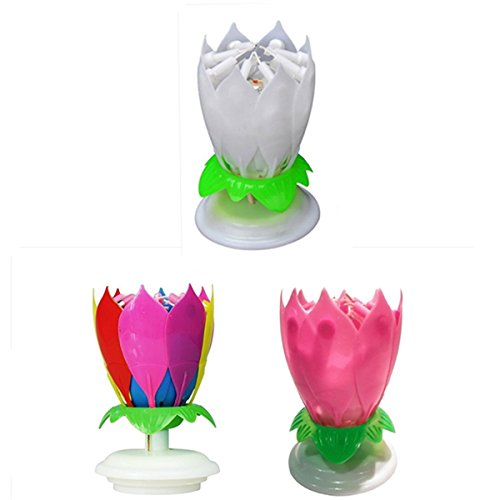 Music Birthday Candle - Special Offer 3 packs (F)