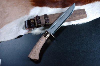 土佐鍛造ダマスカスアウトドア剣鉈 230 dm15真鍮ツバ輪 sptv-003 B00AE0KDYY