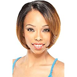 Gabrielle Lace Front Wigs 12 Inch Ombre Short Bob Straight Hair Synthetic Dark Roots Natural Straight Hair Replacement Hair Lace Wigs For Women Heat Resistant Fiber Hair 1B/27#