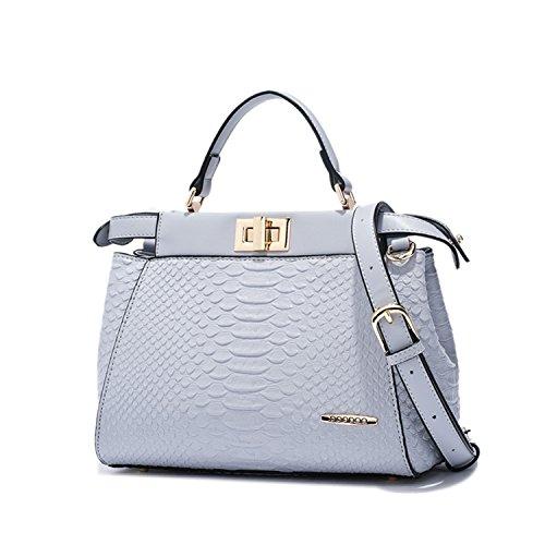 Miyoopark - Bolso estilo cartera de Material Sintético para mujer azul/gris