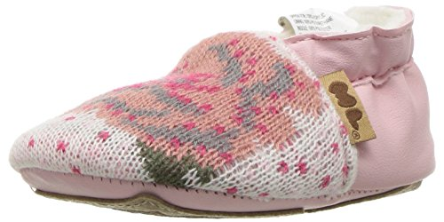 Muk Luks Girls' Mollycoddle Soft Shoes Mary Jane Flat, Pink, 0-6 Months M US Infant
