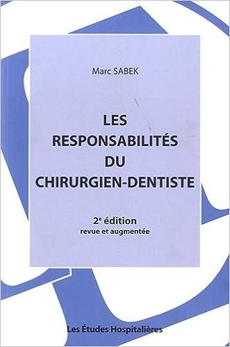 Book Les responsabilités du chirurgien-dentiste
