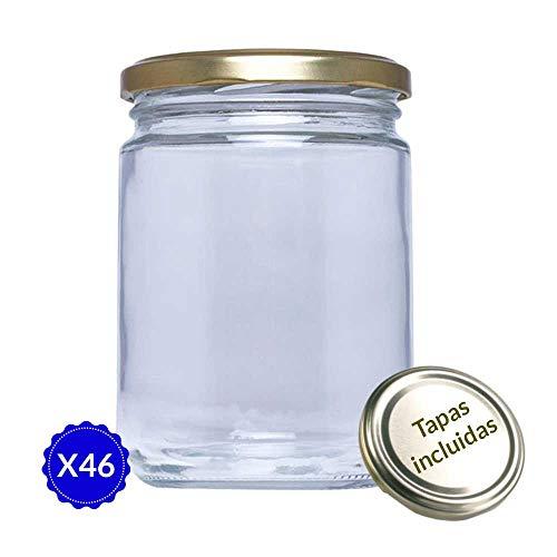 Réf.16 Lot de 60 bocaux de conserve en verre 445 ml