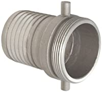 """Dixon MA300 Aluminum Hose Fitting, King Short Shank Suction Coupling, 3"""" NPSM Male x 3"""" Hose ID Barbed"""