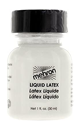 Mehron Makeup Liquid Latex for Special Effects; CLEAR- 1oz